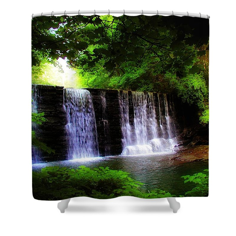 Dove Lake Falls Shower Curtain featuring the photograph Dove Lake Falls by Bill Cannon