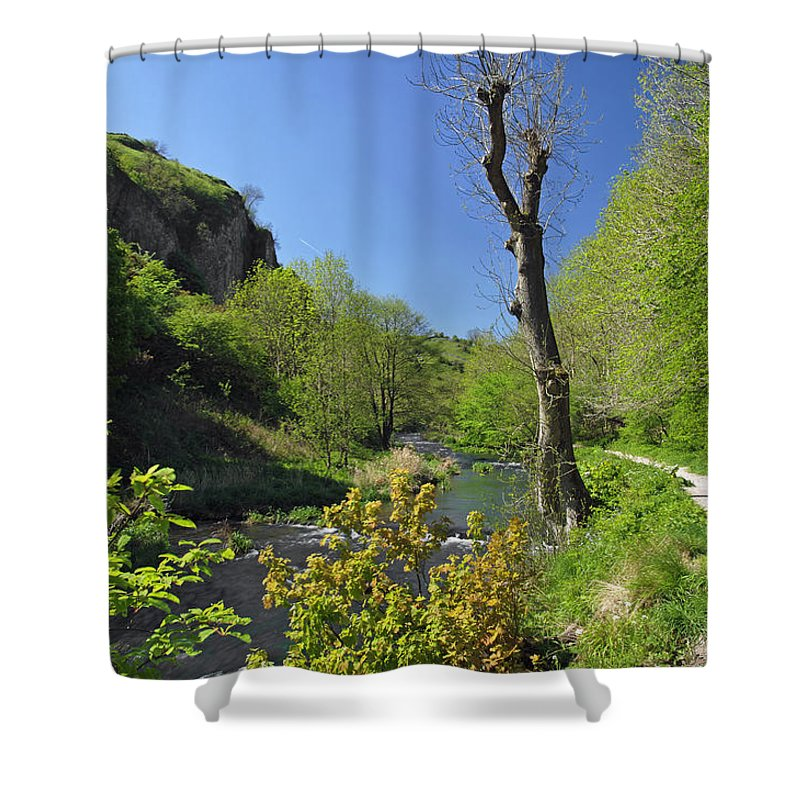 Britain Shower Curtain featuring the photograph Dove Valley - Beside The River by Rod Johnson