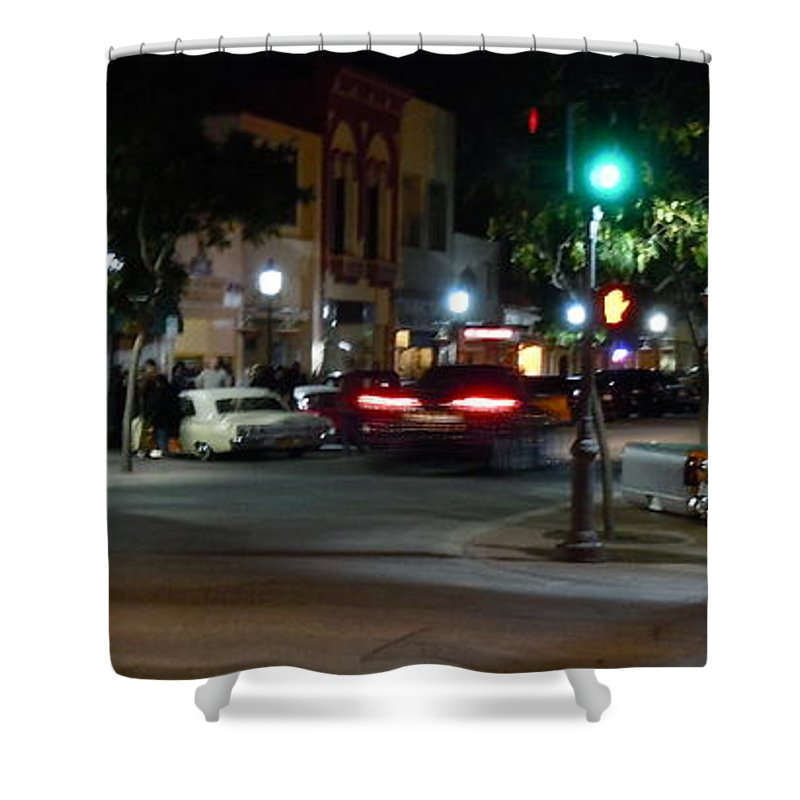 Main Shower Curtain featuring the photograph Downtown by Customikes Fun Photography and Film Aka K Mikael Wallin