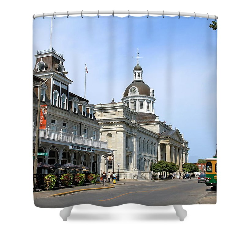 Canada Shower Curtain featuring the photograph Downtown Kingston by Valentino Visentini