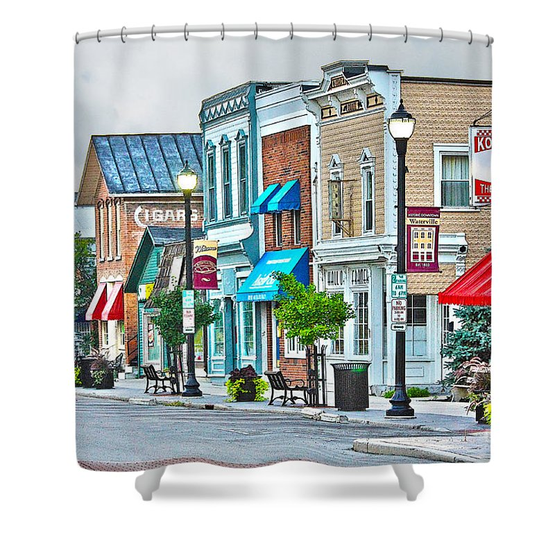 Waterville Ohio Shower Curtain featuring the photograph Downtown Waterville by Jack Schultz