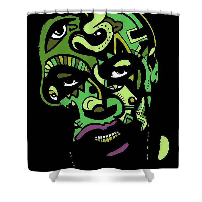 Dr Shower Curtain featuring the digital art Dr. Dre Full Color by Kamoni Khem