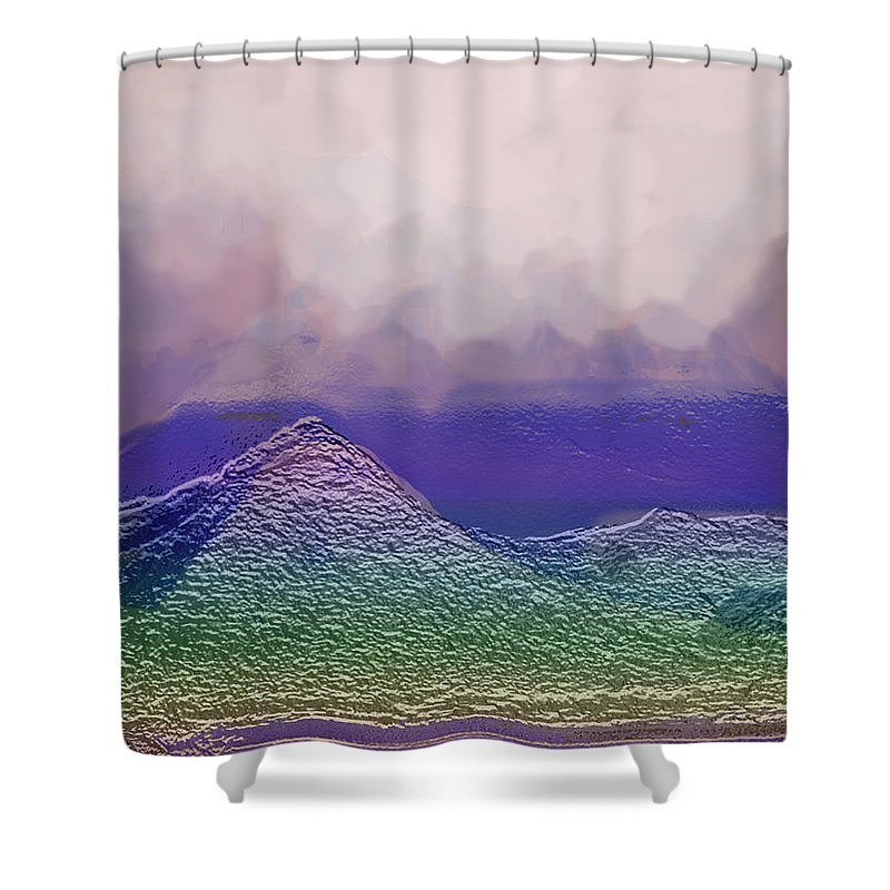 Abstract Shower Curtain featuring the photograph Dreaming In Technicolor by Ian MacDonald