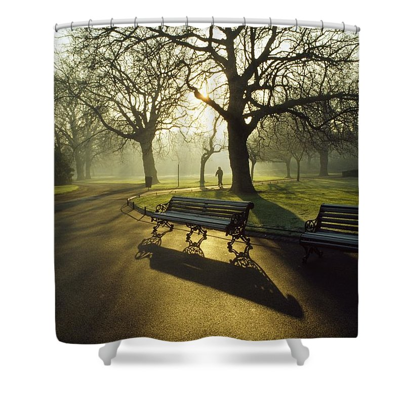 Autumn Shower Curtain featuring the photograph Dublin - Parks, St. Stephens Green by The Irish Image Collection