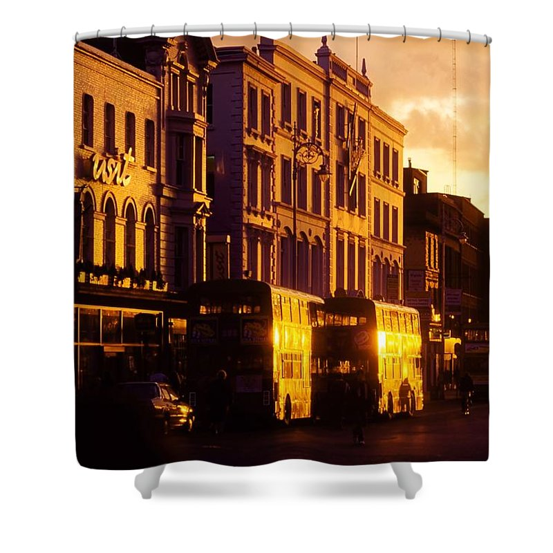 Transportation Shower Curtain featuring the photograph Dublin, Co Dublin, Ireland Buildings by The Irish Image Collection