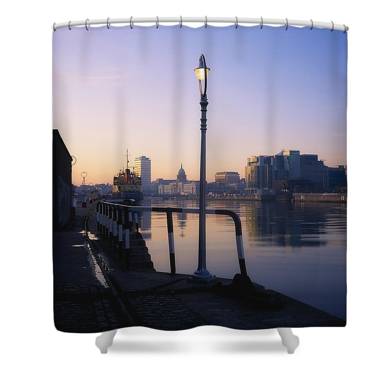 City Shower Curtain featuring the photograph Dublin, Co Dublin, Ireland by The Irish Image Collection