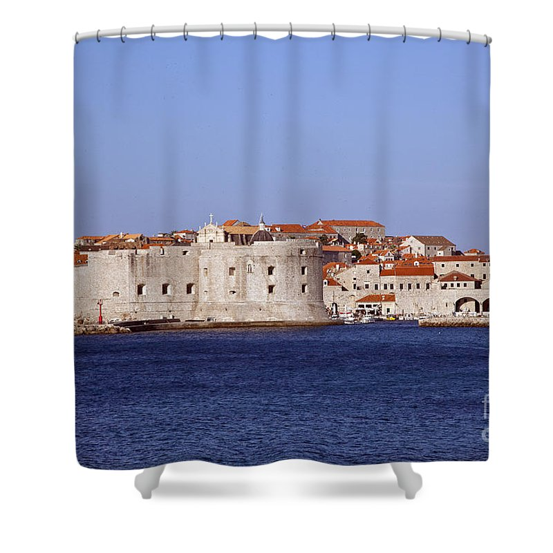 Dubrovnik Shower Curtain featuring the photograph Dubrovnik View 5 by Madeline Ellis