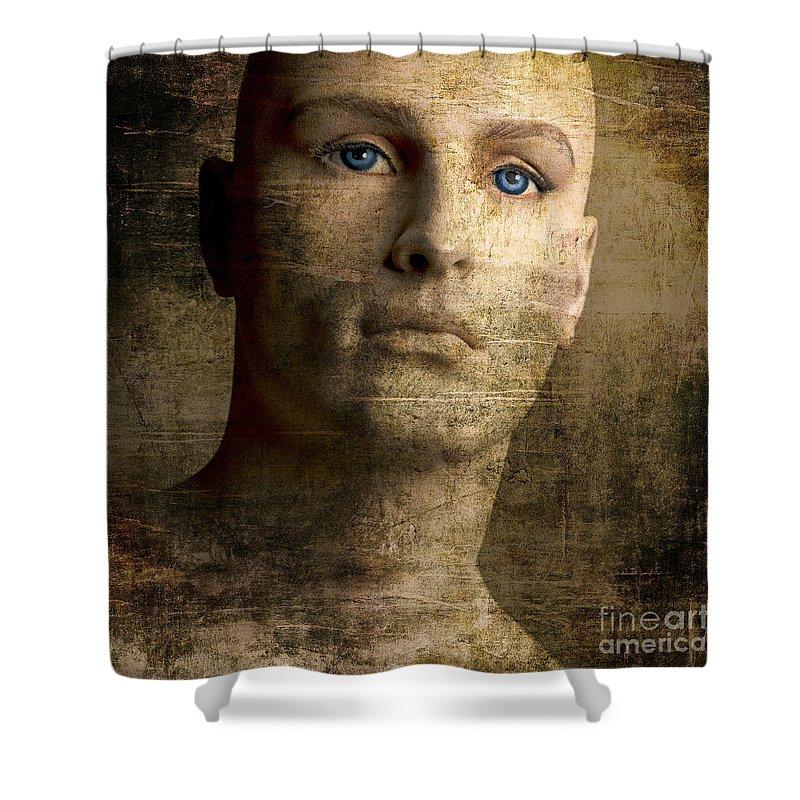 Blue Eyes Shower Curtain featuring the photograph Dummy by Bernard Jaubert