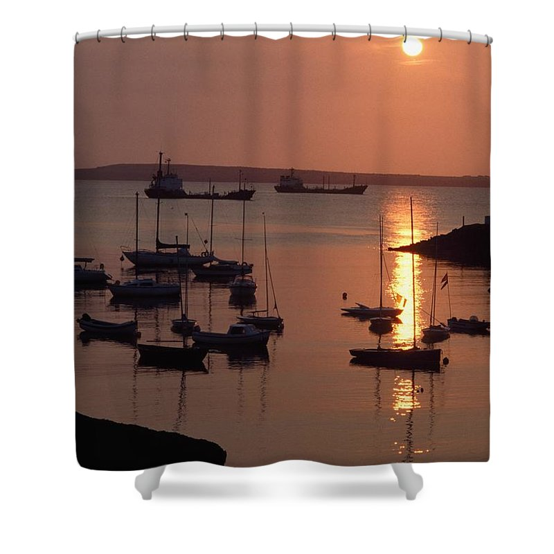 Outdoors Shower Curtain featuring the photograph Dunmore East, Co Waterford, Ireland by The Irish Image Collection
