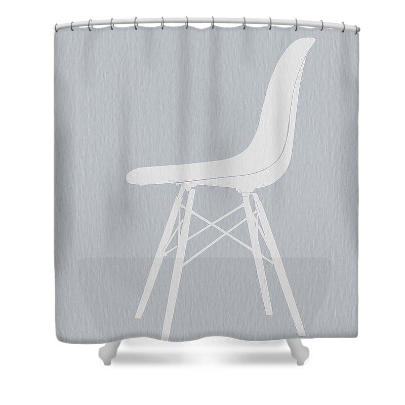 Eames Chair Shower Curtain Featuring The Photograph Eames Fiberglass Chair  By Naxart Studio