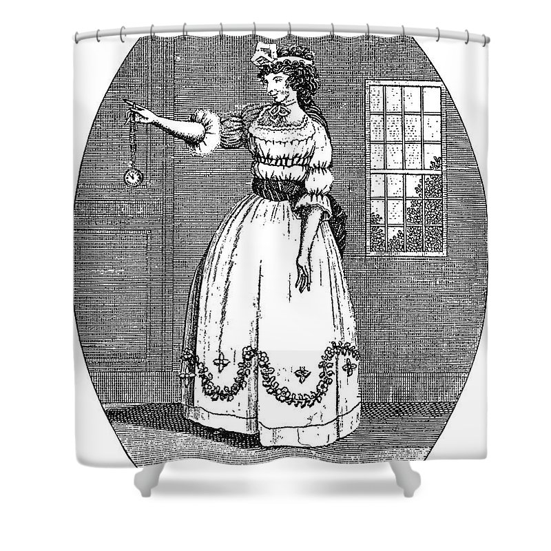 1790s Shower Curtain featuring the photograph Early American Actress by Granger