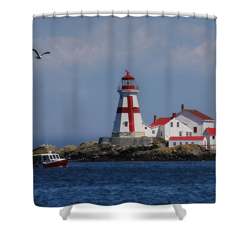 Awesome East Quoddy Head Lighthouse Shower Curtain Featuring The Photograph East  Quoddy Head Lighthouse By Lori Deiter
