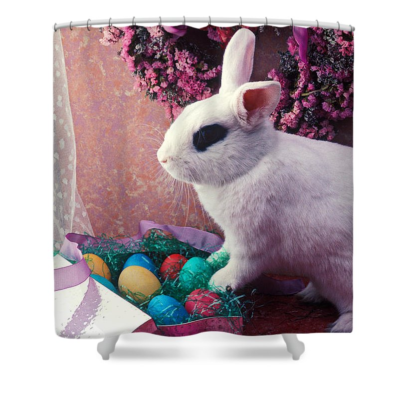 Easter Shower Curtain featuring the photograph Easter Bunny by Garry Gay