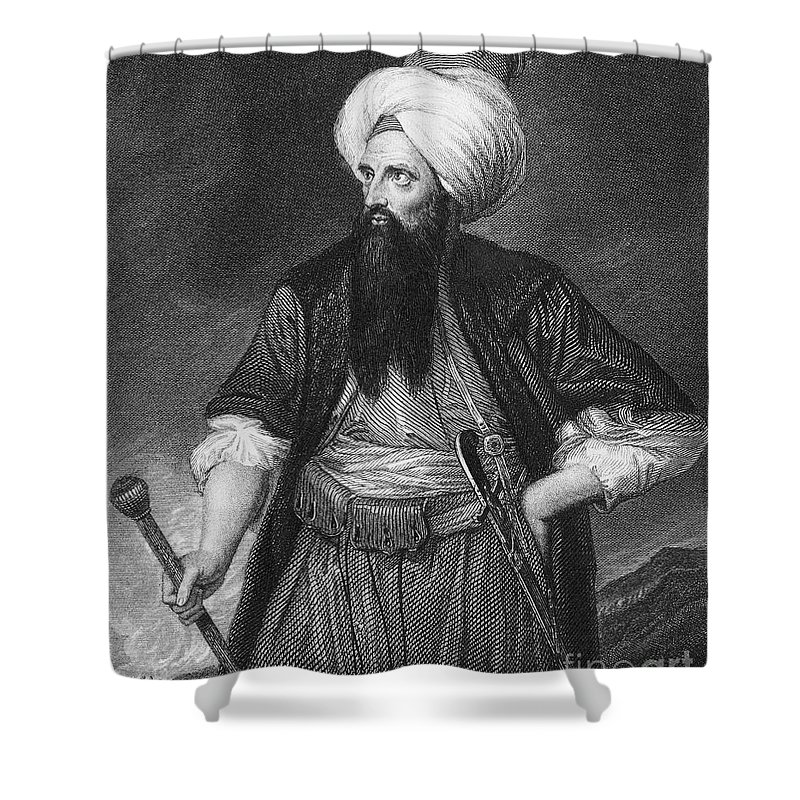 18th Century Shower Curtain featuring the photograph Edward Wortley Montagu by Granger