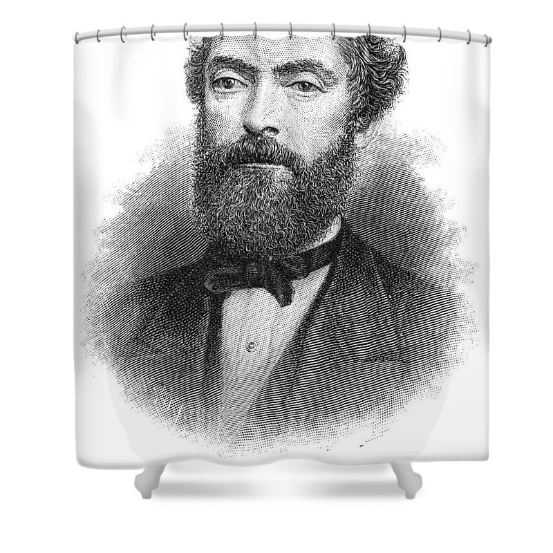 19th Century Shower Curtain Featuring The Photograph Edwin Drake 1819 1880 By Granger