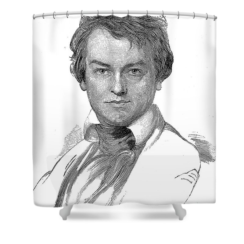 1835 Shower Curtain featuring the photograph Edwin Forrest (1806-1872) by Granger
