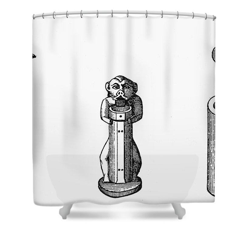 Ancient Shower Curtain featuring the photograph Egypt: Cosmetic Pots by Granger