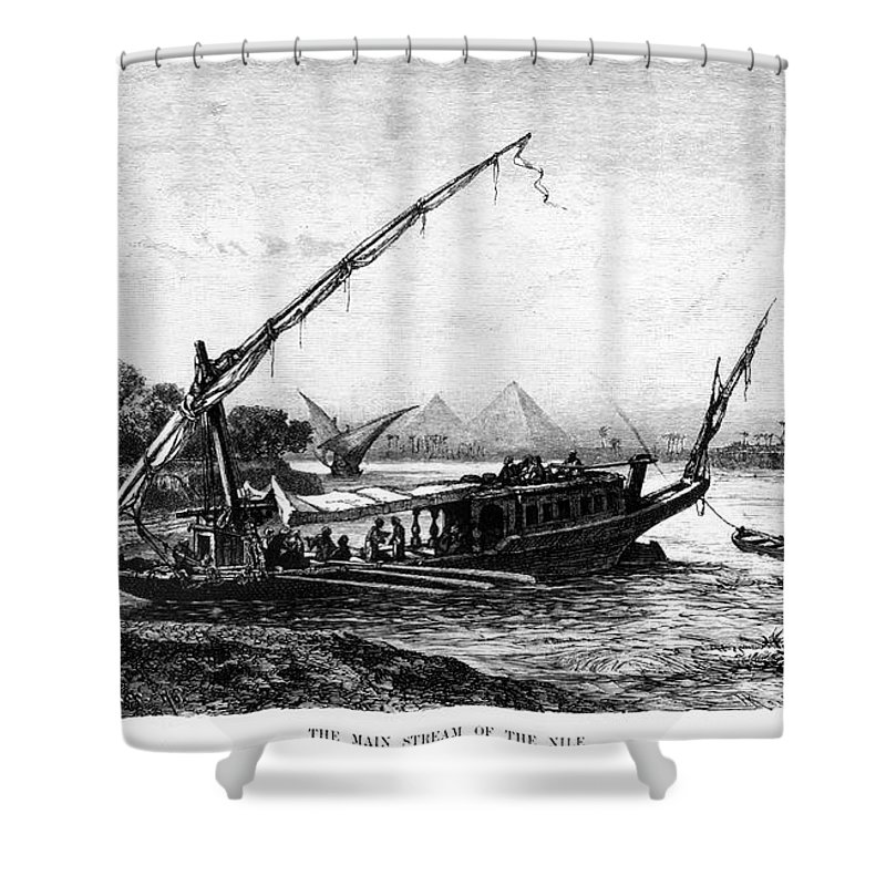 1880 Shower Curtain featuring the photograph Egypt: Nile Transport by Granger