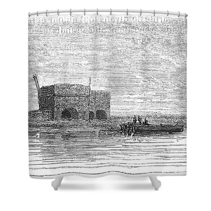 1869 Shower Curtain featuring the photograph Egypt: Plateau Des Hy�nes by Granger