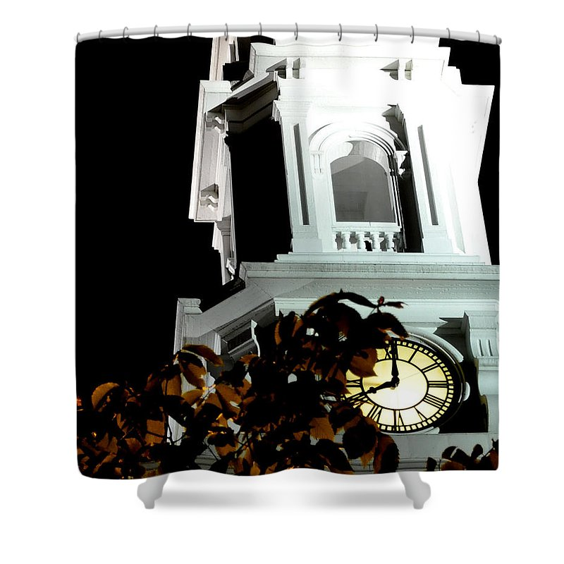Church Shower Curtain featuring the photograph Eight O'clock Eop by Jim Brage