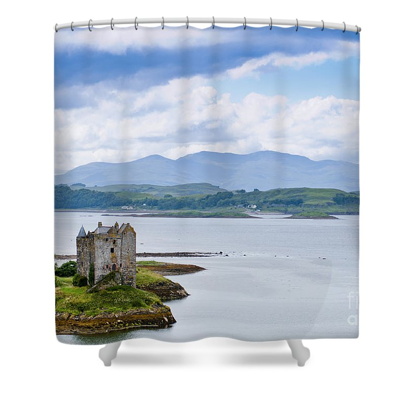 Alsh Shower Curtain featuring the photograph Eilean Donan Castle by Andrew Michael