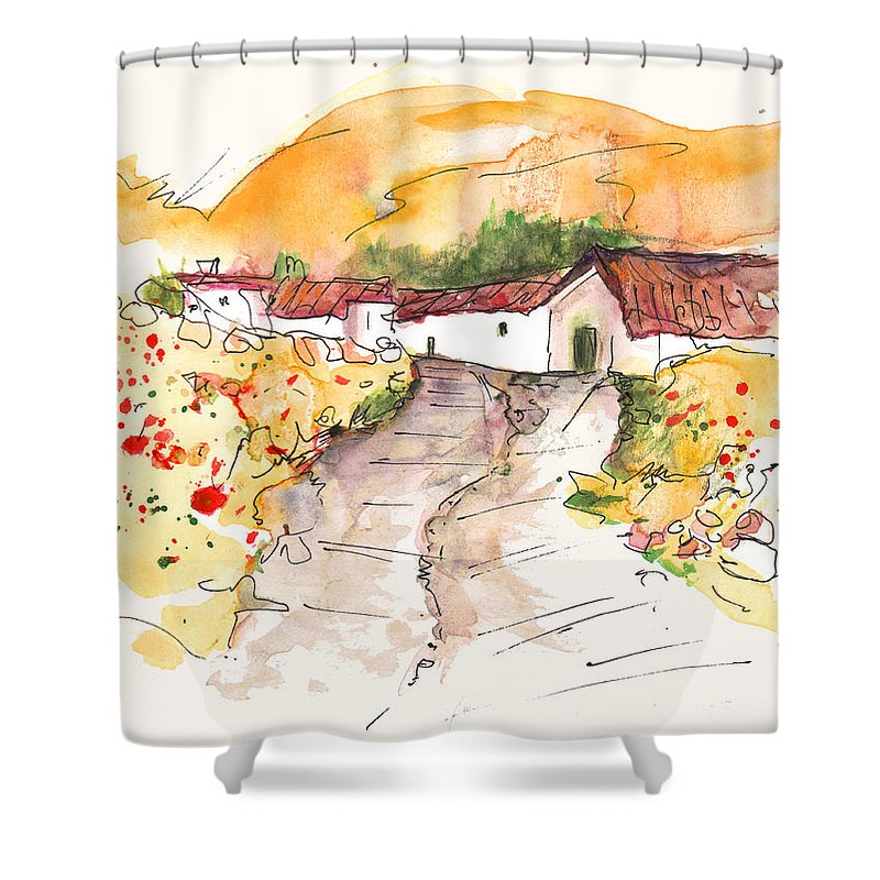 Travel Shower Curtain featuring the painting El Alcornocal 01 by Miki De Goodaboom