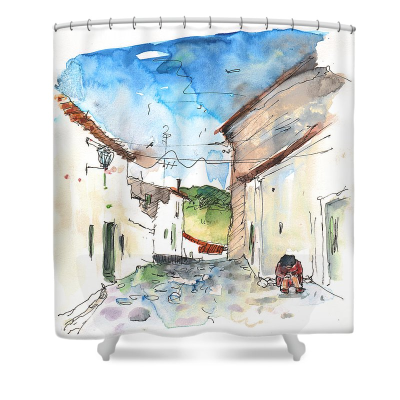 Travel Shower Curtain featuring the painting El Alcornocal 03 by Miki De Goodaboom