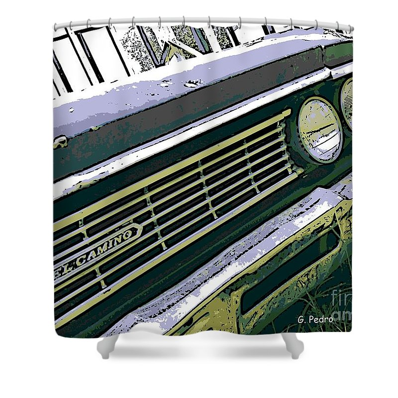Chevrolet Shower Curtain featuring the photograph El Camino by George Pedro