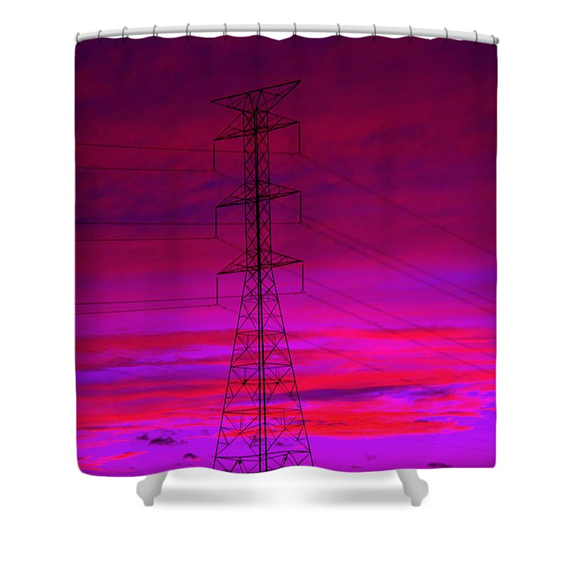 Electric Dreams Shower Curtain featuring the photograph Electric Dreams by Ed Smith