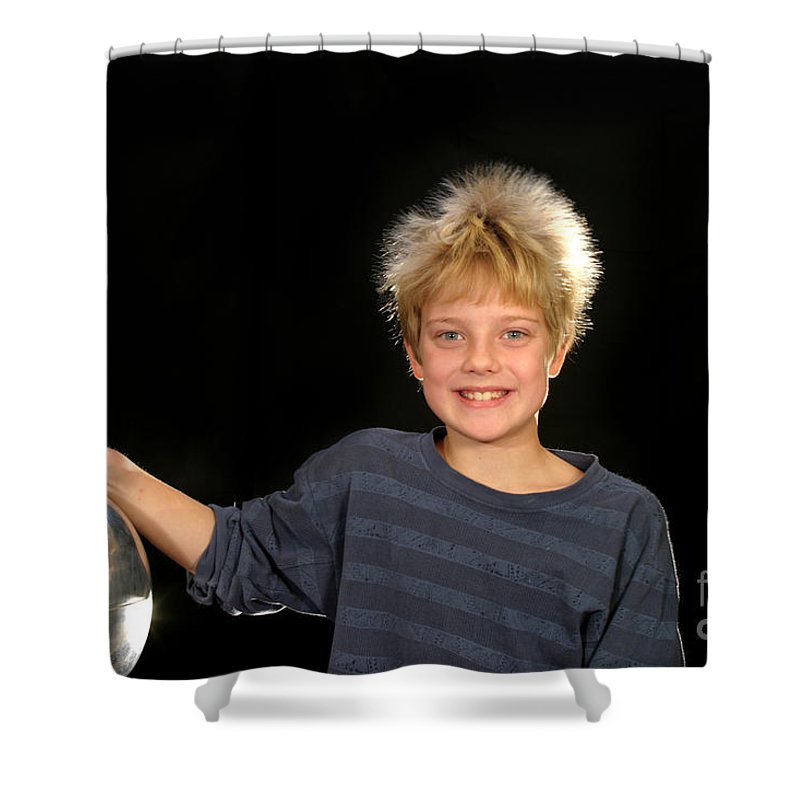 Electrostatic Shower Curtain featuring the photograph Electrostatic Generator by Ted Kinsman