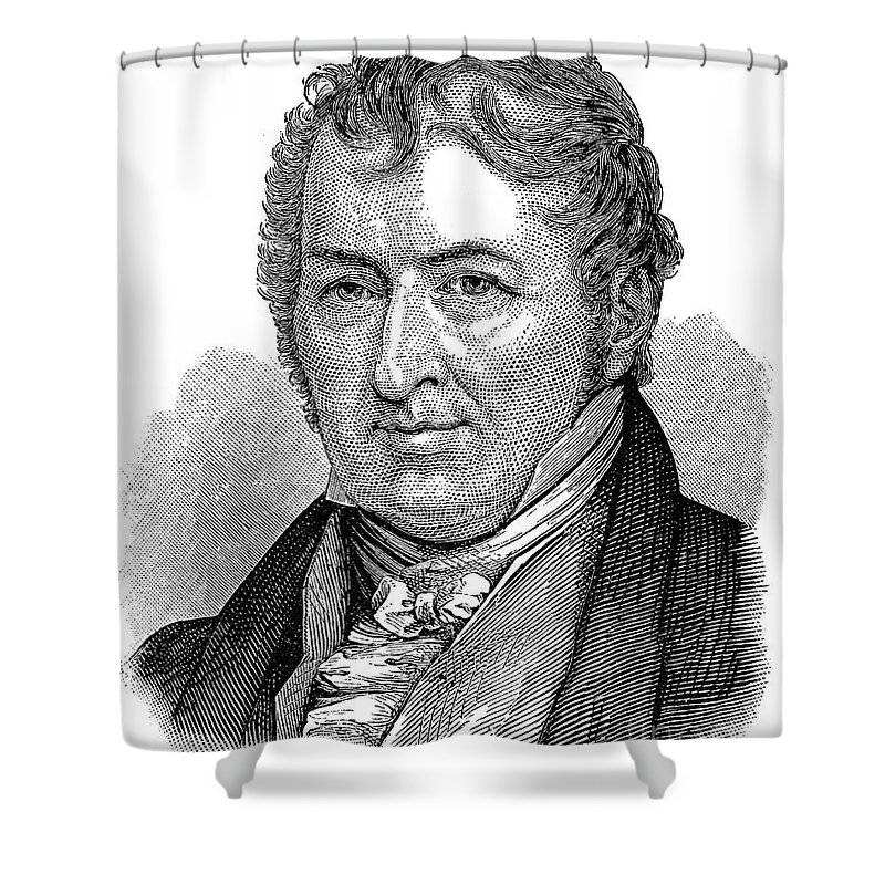 18th Century Shower Curtain featuring the photograph Eli Whitney (1765-1825) by Granger