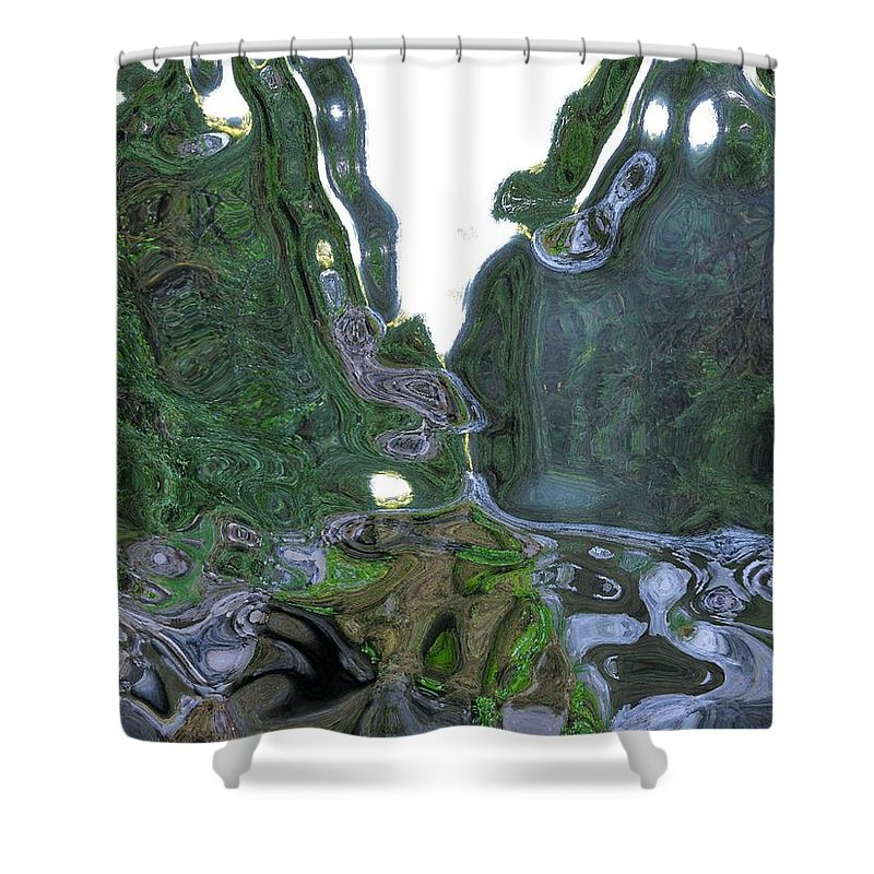 Abstract Shower Curtain featuring the photograph Elkhorn Dented by Linda Hutchins