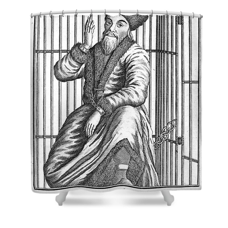 1775 Shower Curtain featuring the photograph Emelyan Ivanovich Pugachev by Granger