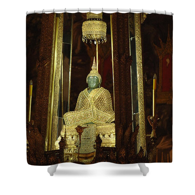 Emerald Buddha Shower Curtain featuring the photograph Emerald Buddha Grand Palace by Bob Christopher