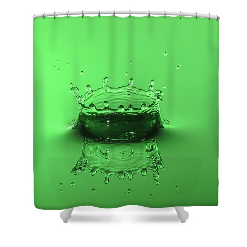 Collision Shower Curtain featuring the photograph Emerald Crown by Nick Field
