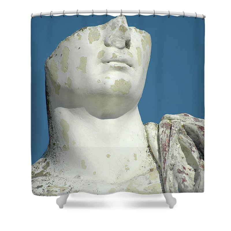 Europe Shower Curtain featuring the photograph Emperor's Bust by Mary Lane