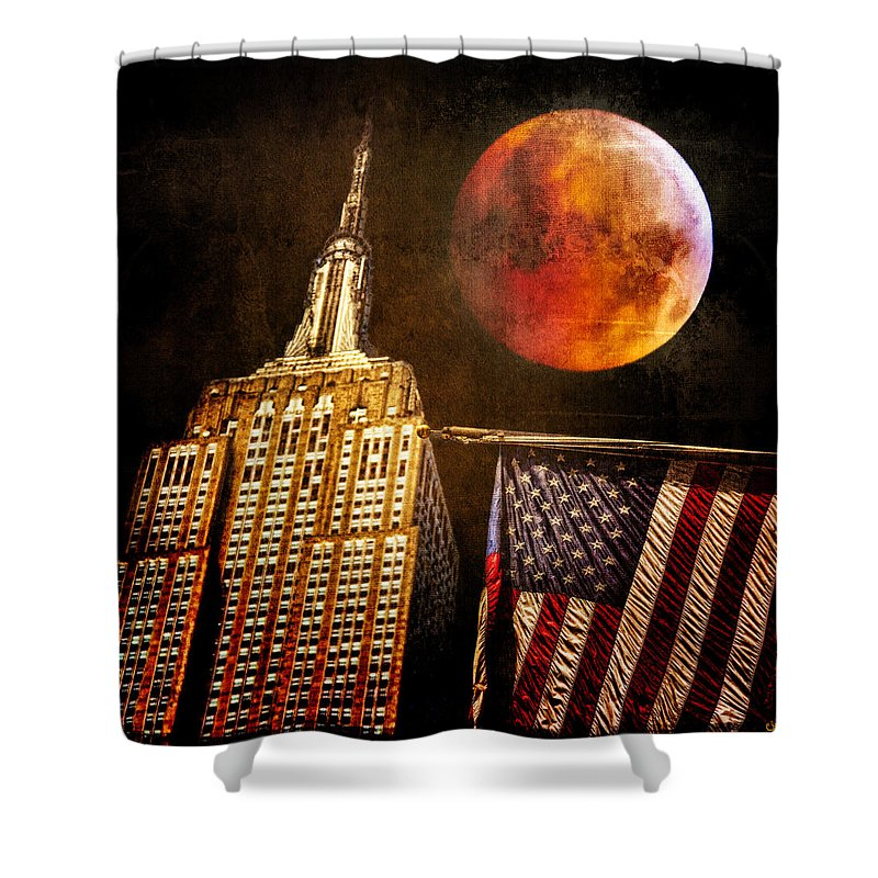 Moon Shower Curtain featuring the photograph Empire Solstice by Chris Lord