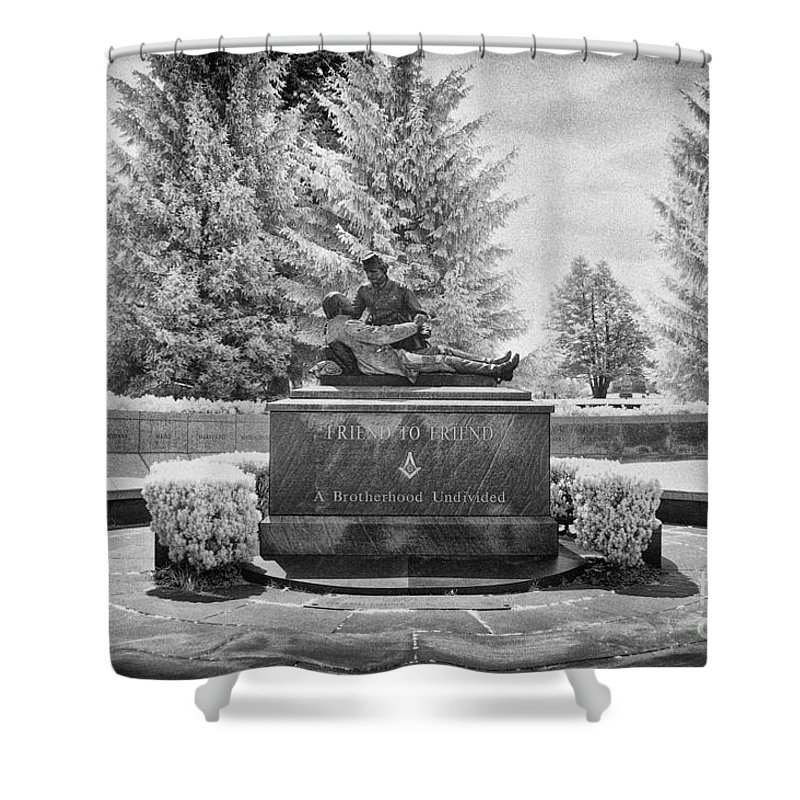 Infrared Shower Curtain featuring the photograph Enemies No More by Paul W Faust - Impressions of Light