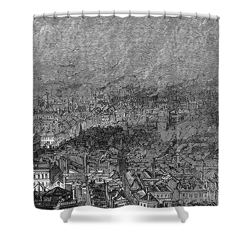 1876 Shower Curtain featuring the photograph England: Manchester, 1876 by Granger