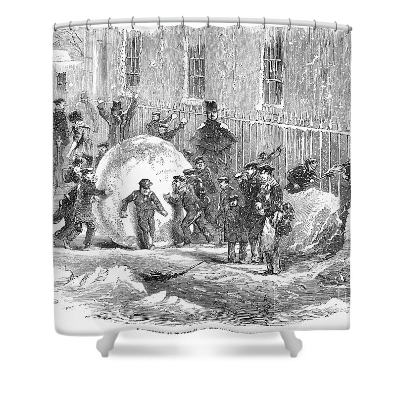 1855 Shower Curtain featuring the photograph England: Winter, 1855 by Granger
