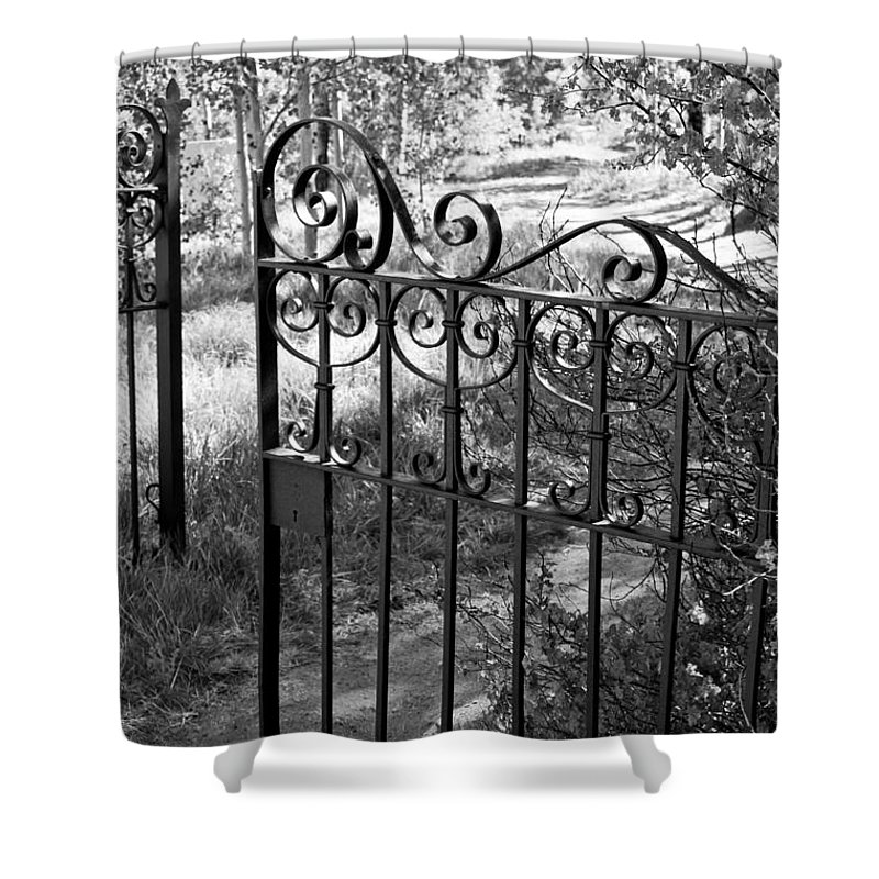 Gate Shower Curtain featuring the photograph Enter by Colleen Coccia