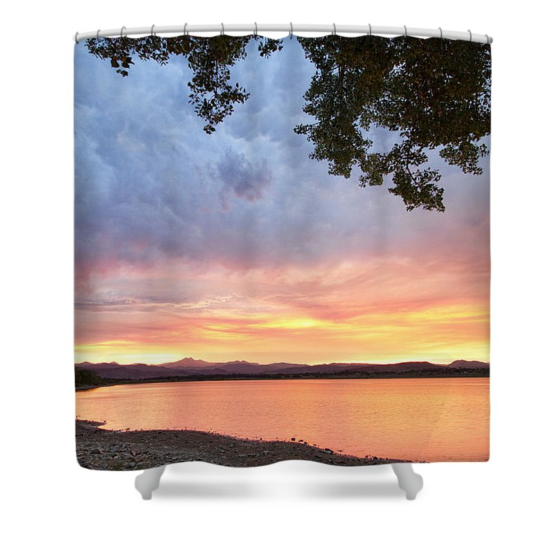 colorado Nature Shower Curtain featuring the photograph Epic August Sunset by James BO Insogna