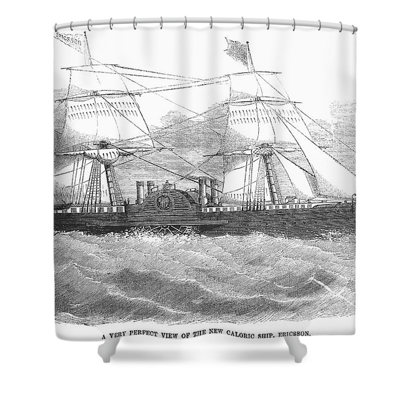 1853 Shower Curtain featuring the photograph Ericssons Caloric Engine by Granger