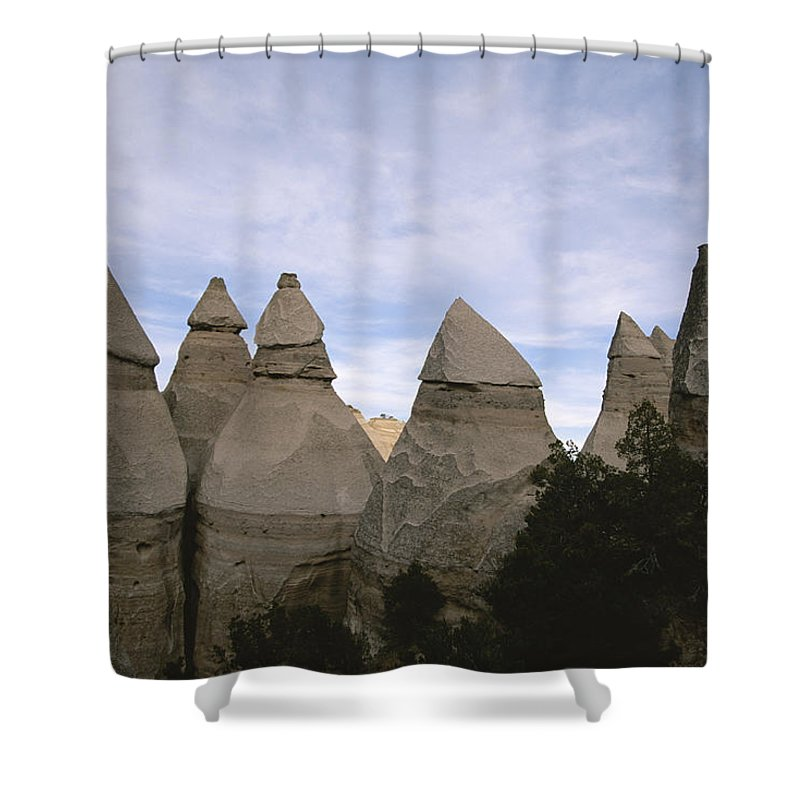 New Mexico Shower Curtain featuring the photograph Erosion-chiseled Rock Formations Formed by Melissa Farlow