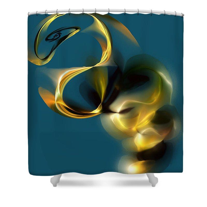 Fine Art Shower Curtain featuring the digital art Escape 090112 by David Lane