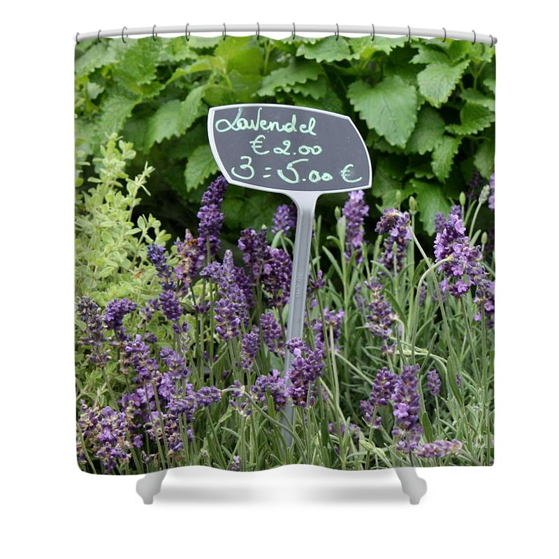 Herb Shower Curtain featuring the photograph European Markets - Lavender by Carol Groenen