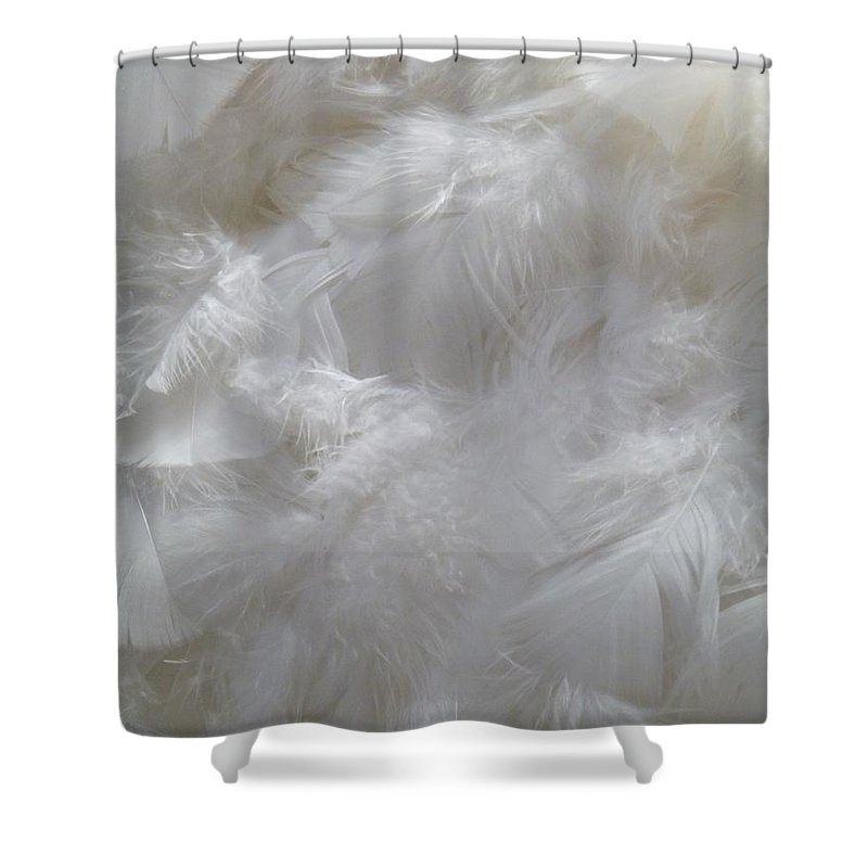 Still Life Shower Curtain featuring the painting Evidence Of Angels by Newel Hunter