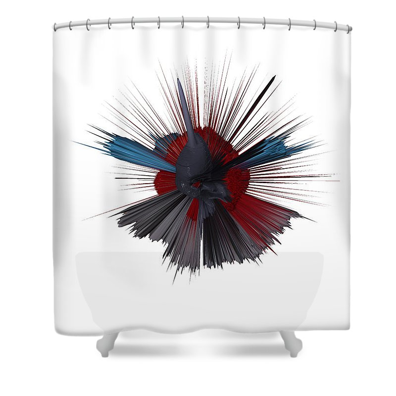 Digital Art Digital Art Shower Curtain featuring the digital art Exploding Tick by Robert Margetts
