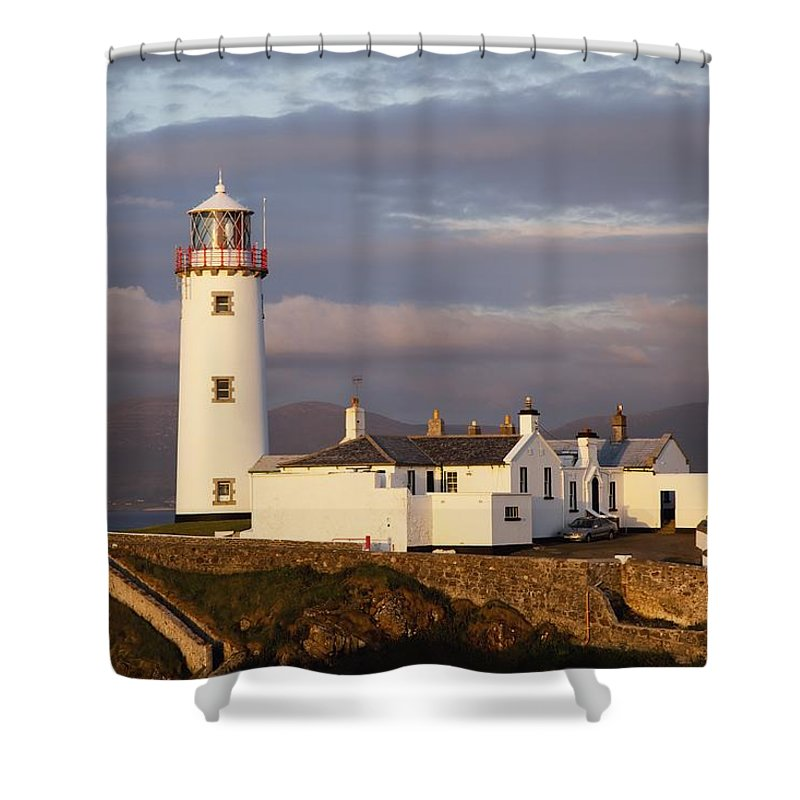 Coast Shower Curtain featuring the photograph Exterior Of Fanad Lighthouse Fanad by Peter Zoeller