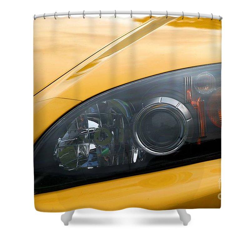 Car Shower Curtain featuring the photograph Eye Of A Car by Henrik Lehnerer
